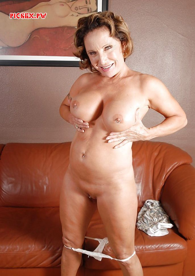 silicone Tits Mature women without panties