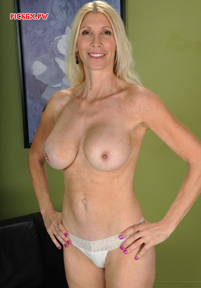 slim Mature blonde in panties