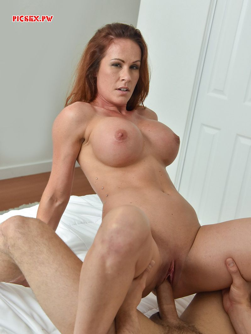 redhead woman milf rides on cock