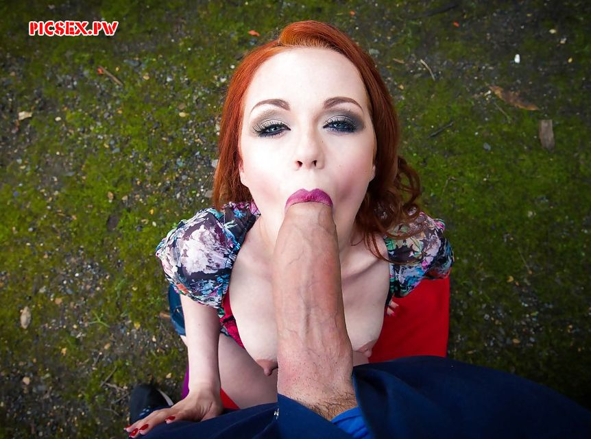 huge cock in her mouth redhead girl on the street