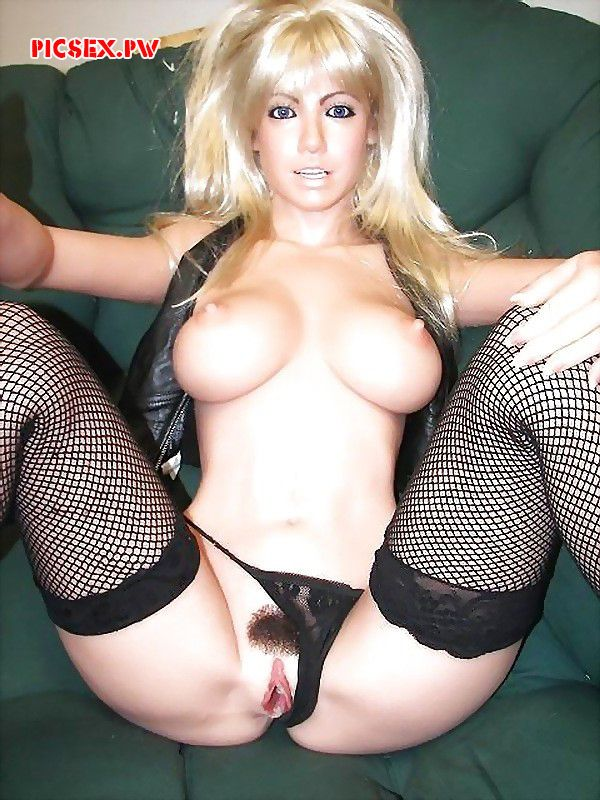 blonde doll with hair on the pussy