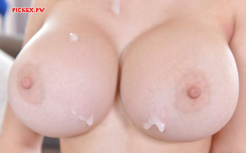 cum on Breasts female closeup