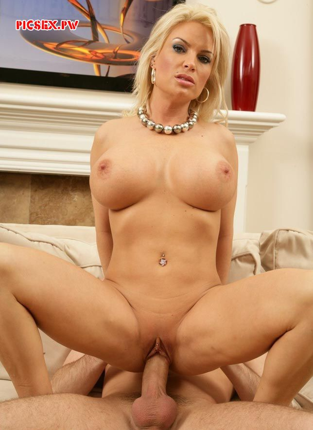 titted Mature blonde riding cock