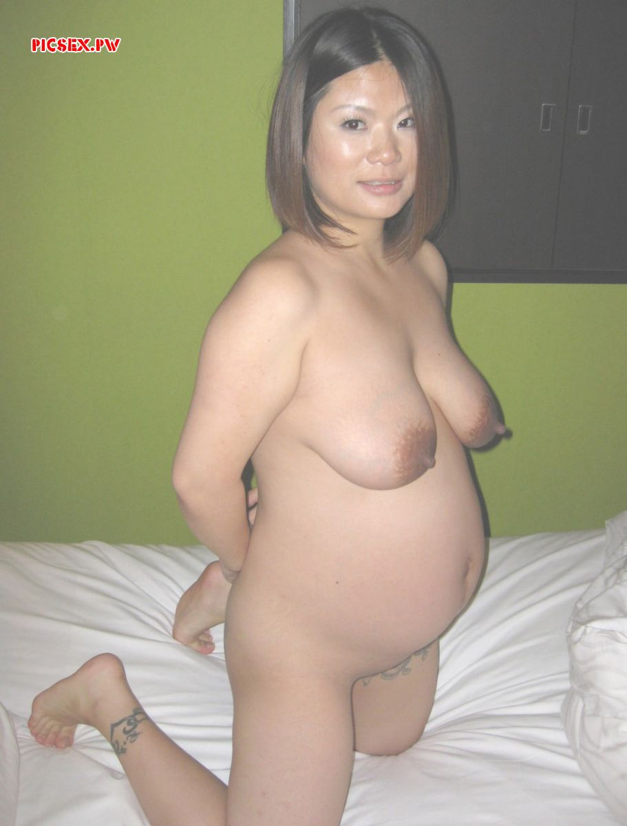private pregnant Asian naked