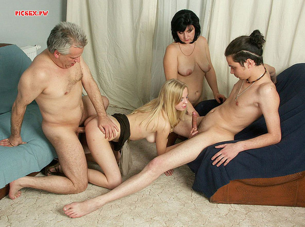Russian family in a family Threesome