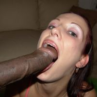 with a huge black dick