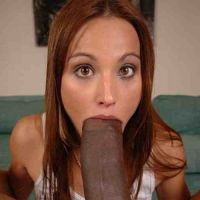 girl sucking huge cock