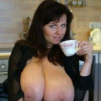 private mega Boobs women at home