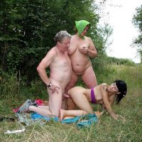 incest in nature in the forest on the village