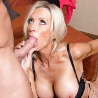 the suction member Mature blonde