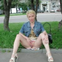 depraved Russian girl showed pussy