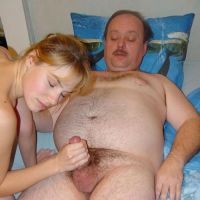 young wife jerks off husband old private