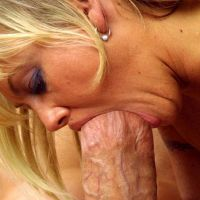 very huge cock in her mouth Blondie