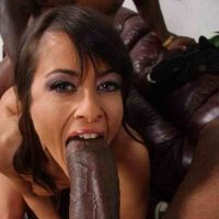brunette milf took in his mouth dick monster