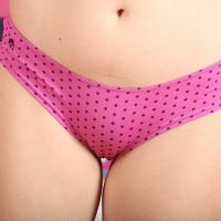 narrow womens panty close-up