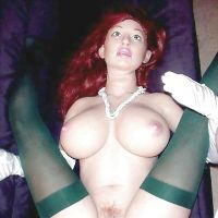 redhead doll with red pussy