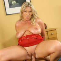 fat Mature Madame sat on the member