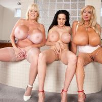 three naked Mature women with mega Tits