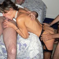real Domashny Threesome with Russian girl