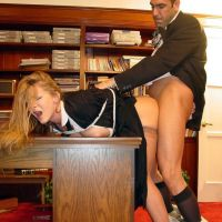 woman hurt boss fucked in the office